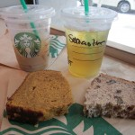 Banana and Pumpkin Cake @ Starbucks